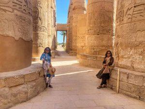 recorrido por el templo de karnak