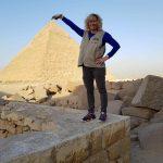 Las pirámides de El Cairo desde el aeropuerto